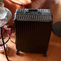铝框商务登机箱行李箱皮箱万向轮拉杆箱28寸男女旅行箱子24寸 黑色 28寸