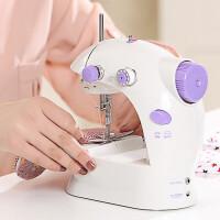 缝纫机 家用电动迷你多功能小型缝纫机手动吃厚微型脚踏缝纫机 颜色随机