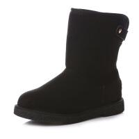 冬季加绒平跟雪地靴女学生百搭韩版加厚保暖短筒短靴女棉鞋子