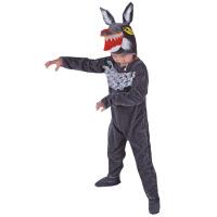 春秋季表演装 儿童演出服女 冬跳舞蹈衣 大灰狼动物造型服套装男