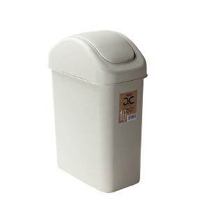 Lustroware 原装进口摇盖垃圾桶11.5L 白色L-2001/MW
