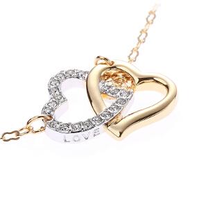 施华洛世奇Swarovski女士甜美金色心形吊坠水晶手链饰品1062709