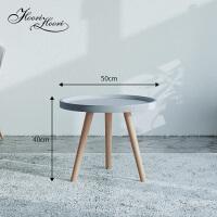 北欧茶几创意家具小户型客厅实木沙发边几简约现代组合茶几桌 组装