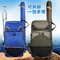 多功能钓椅包加厚鱼竿包渔具包双肩包防水钓鱼包背包鱼护包