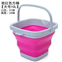 户外加厚折叠钓鱼桶水桶便携钓鱼圆形打水桶鱼桶渔具用品垂钓