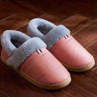 男士包跟棉拖鞋中老年款家居室内防滑保暖长辈棉鞋女