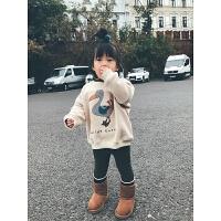女童加绒卫衣童装秋冬幼儿童宝宝加厚保暖上衣