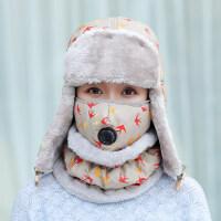 帽子女冬天韩版潮东北户外加厚绒毛帽保暖护耳骑车防风帽厚新品 均码
