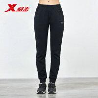 特步女针织长裤新款松紧收脚时尚修身跑步健身女裤运动长裤休闲裤882128639108