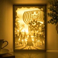 海贼海盗王手办路飞索隆艾斯摆件手工DIY周边梅利号纸雕灯礼物