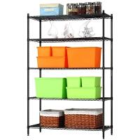 厨房置物架落地五层架子铁艺收纳金属储物免打孔省空间架子