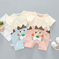 婴儿衣服夏季短袖连体衣爬爬服初生儿薄款外出哈衣