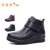 红蜻蜓女棉鞋冬季加绒女短靴子妈妈鞋女靴