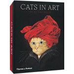【T&H】Cats in Art,艺术中的猫:20张明信片*套装盒 猫咪绘画卡片 英文原版