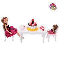 乐吉儿生日派对洋布芭比娃娃套装礼盒正品 可儿女孩玩具