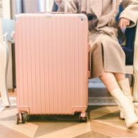 拉杆箱万向轮旅行箱24学生密码箱包登机皮箱子26寸男女行李箱韩版 玫瑰金 复古款