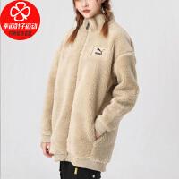 幸运叶子 PUMA彪马外套女装冬季新款羊羔绒棉服运动服保暖夹克衫530293-12