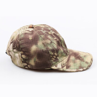 户外运动迷彩战术 黑色绿色沙色蟒纹棒球帽 军迷装备