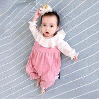 蓓莱乐婴儿连体衣服满月宝宝新生儿0岁3个月季5装冬季冬装睡衣
