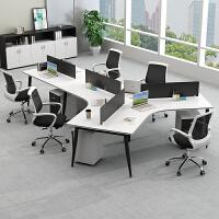 职员办公桌椅组合3/6多人位5办公家具简约现代办工作桌屏风员工桌
