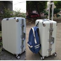 铝框拉杆箱万向轮30寸加厚行李箱男女24pc26超大旅行箱32寸学生28 白色 钻石款 32寸
