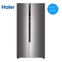 Haier海尔BCD-600WDEA 600升高配双变频风冷无霜家用节能双门对开门电冰箱超薄旗舰店