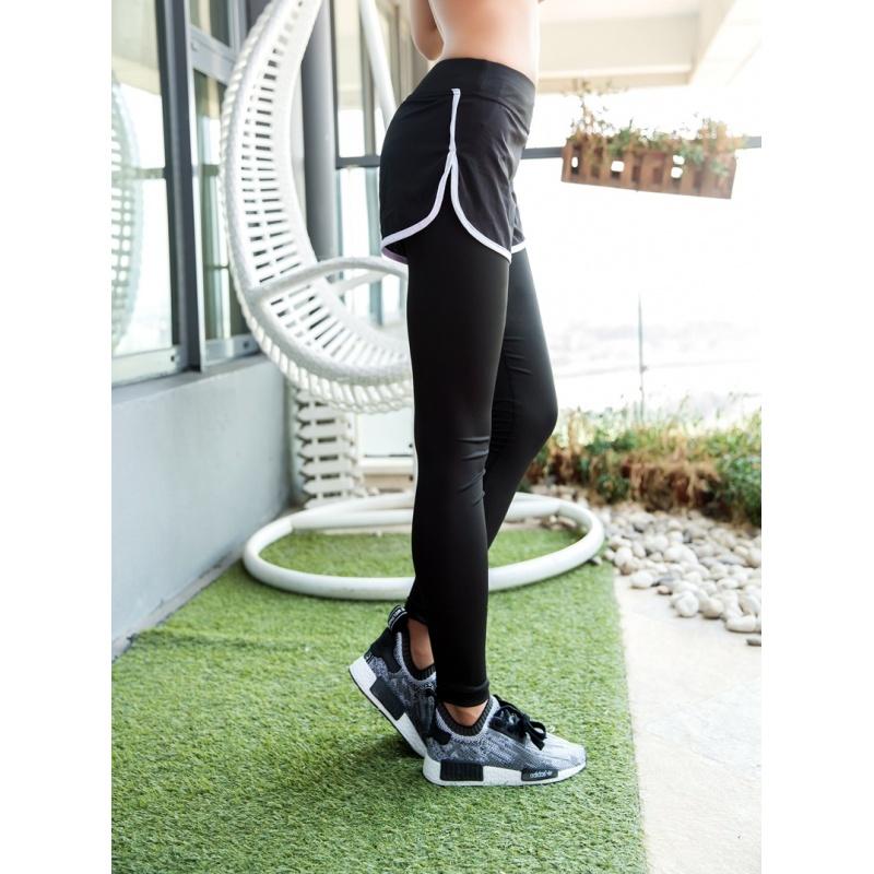 秋冬运动裤假两件弹力紧身健身裤女士跑步瑜伽裤薄款休闲长裤女夏 发货周期:一般在付款后2-90天左右发货,具体发货时间请以与客服协商的时间为准