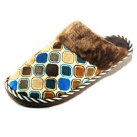 潮路思新款男女棉拖鞋 居家地板拖鞋 情侣保暖棉鞋 防滑底棉拖鞋CLS-6616 男款咖啡色