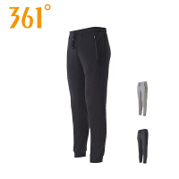 【折上1件5折 2件4折】361度男装针织长裤新款针织收口长裤秋季薄款小脚休闲裤