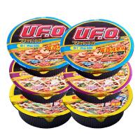 日清方便面UFO飞碟炒面3口味6碗组合 速食面干拌面碗面泡面混装