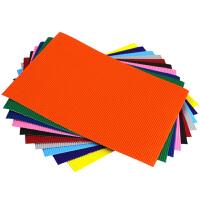 彩色瓦楞纸A4手工模型纸模儿童DIY手工纸美工纸学生波浪折纸批发