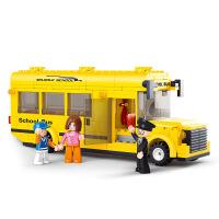 【当当自营】小鲁班模拟城市系列儿童益智拼装积木玩具 小型校园巴士M38-B0507