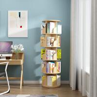 书架绘本架落地家用简约现代经济型实木旋转360度小书柜收纳