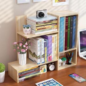书架 简易桌上学生办公室置物架简约现代儿童桌面书柜迷你省空间多功能创意收纳架