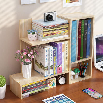 御目 书架 简易桌上学生办公室置物架简约现代儿童桌面书柜迷你省空间多功能创意收纳架支持礼品卡支付  迷你多功能,单品包邮