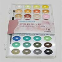 台湾雄狮固体水彩28色36色套装 透明水彩颜料 粉饼水彩