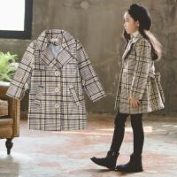 女童毛呢大衣秋装儿童韩版时尚秋季洋气中长款呢子外套潮