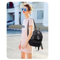 牛津布双肩包女韩版潮百搭时尚帆布大容量书包女士背包女