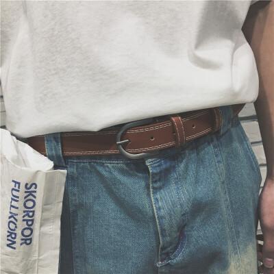 的情侣款针扣腰带男女四季款皮带休闲百搭潮青年休闲学生 发货周期:一般在付款后2-90天左右发货,具体发货时间请以与客服协商的时间为准