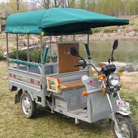 电动三轮车车棚雨棚方管加厚折叠车雨棚三开门平板车休闲车棚雨棚