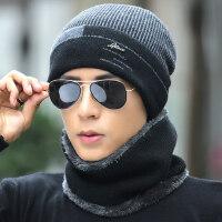 男士帽子韩版潮时尚毛线帽保暖针织帽 防寒棉帽青年户外