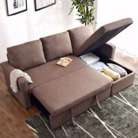 奥古拉日式北欧沙发床两用客厅小户型双人布艺沙发带收纳 1.8米-2米