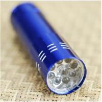 迷你9灯LED强光手电筒 颜色随机
