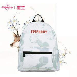 【支持礼品卡支付】Epiphqny重生日韩系版时尚休闲麋鹿印花森女系文艺小清新小双肩背书包51135
