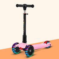 物有物语 滑板车 新款儿童四轮折叠闪光高低可调节滑滑车多功能音乐小孩扭扭车学生脚踏车