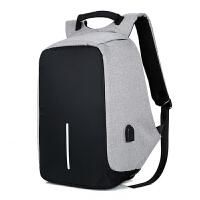 充电防盗背包男女14笔记本电脑双肩包相机包双肩轻便华硕戴尔惠普 14寸