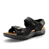 夏季凉鞋男式沙滩鞋休闲防滑中年上班开车户外凉拖两用款