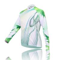 XINTOWN绿光女款骑行服长袖套装 自行车服 春秋季吸湿排汗速干衣