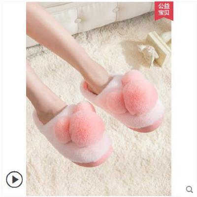 棉拖鞋女冬季可爱亲子孕妇产后居家室内包跟男宝宝棉拖鞋