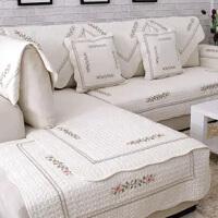 四季全棉防滑沙发垫布艺纯棉简约冬季坐垫组合通用皮沙发巾套罩
